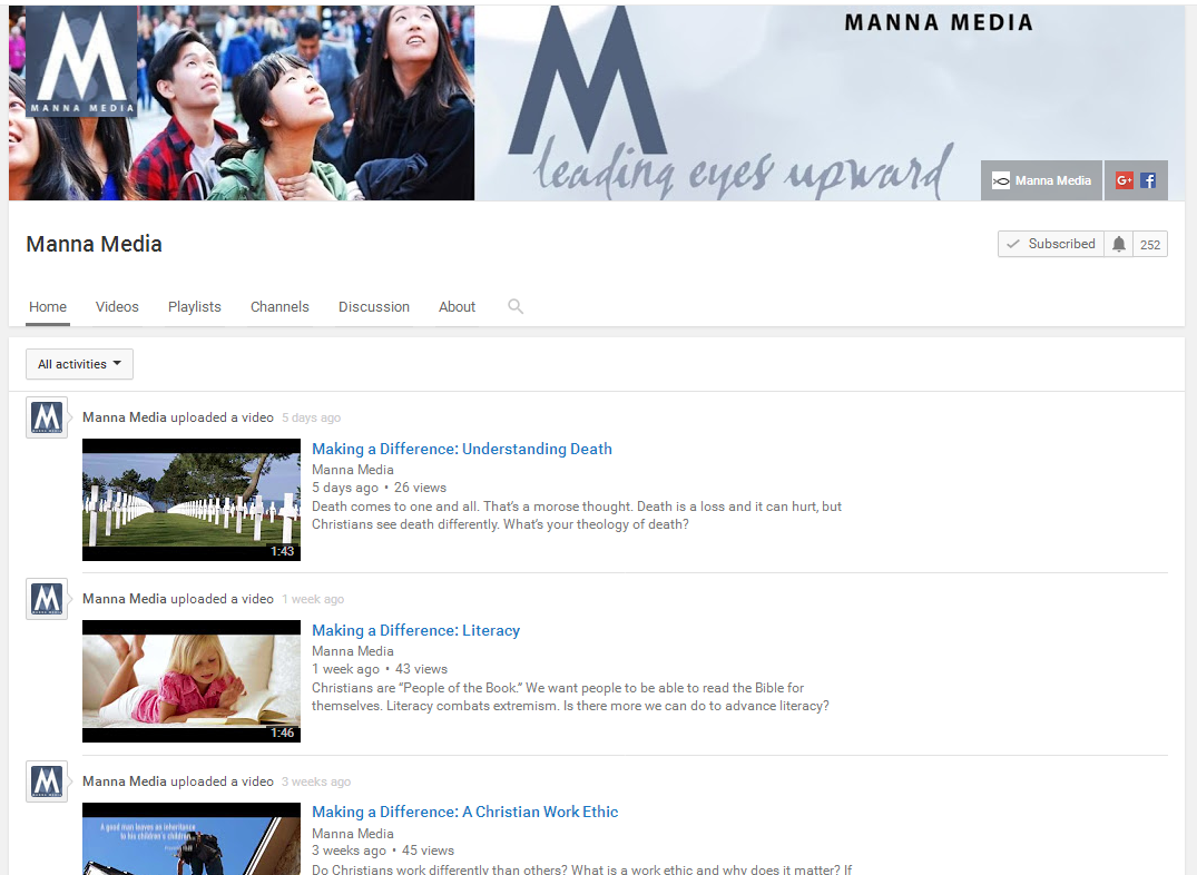 manna media on youtube